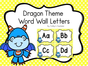 Dragon Word Wall Letters
