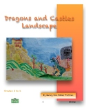 Dragon and Castle Landscape Visual Art Lesson for 2nd to 6