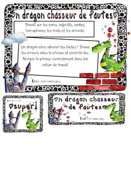 Dragon chasseur de fautes / sentence