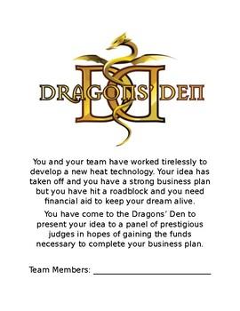 Dragon's Den Heat & Temperature Project