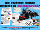 Industrial Revolution Dragon's Den. 14-page lesson pack
