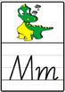 Dragon themed alphabet classroom display charts or posters