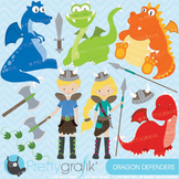 Dragon viking clipart commercial use, vector graphics, digital clip art - CL575