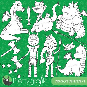 Dragon vikings stamps commercial use, vector graphics, images - DS575