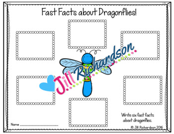 Dragonflies Writing Flap Books!