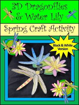 Dragonfly Activities: Dragonflies & Water-Lily Craft Activity
