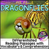Insects Activity | Dragonflies Reading Passages, Vocabular