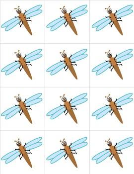 Dragonflies - Numbers 0-31 Pocket Chart Cards - CALENDAR
