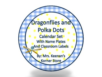 Dragonflies and Polka Dots Word Wall