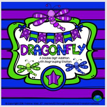 Dragonfly A Double Digit Addition with Regrouping Station