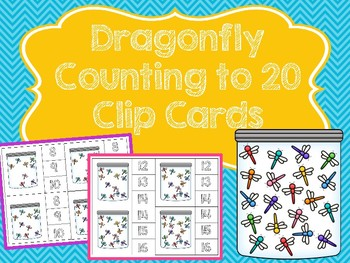 Dragonfly Counting to 20 Clip Cards