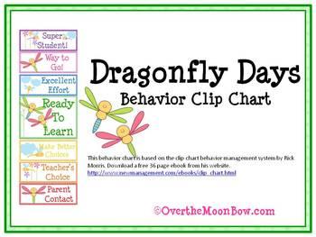 Dragonfly Days Behavior Clip Chart