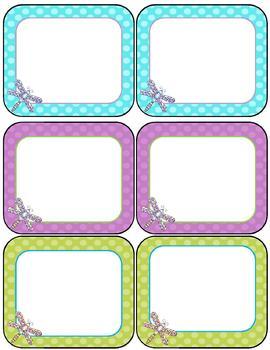 Dragonfly Decor--Classroom Decor Pack {Cursive Style & Editable}