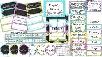 Dragonfly Decor--Classroom Decor {Penmanship Print & Editable}