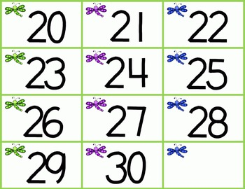 Dragonfly Roll Say Keep Letters and Numbers FREEBIE