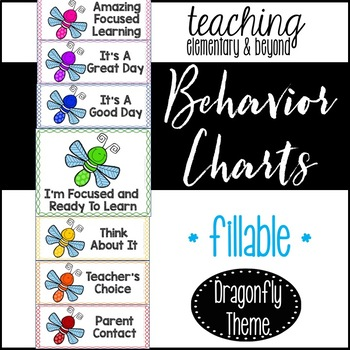 Behavior Clip Chart: Dragonfly Theme {editable version included}