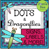 Dragonfly Theme Signs, Labels & MORE! (Editable)