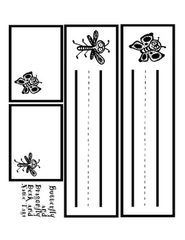Dragonfly and Butterfly Desk and Name Tags