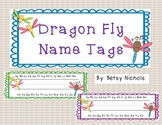 Dragonfly name tags