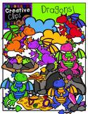 Dragons {Creative Clips Digital Clipart}