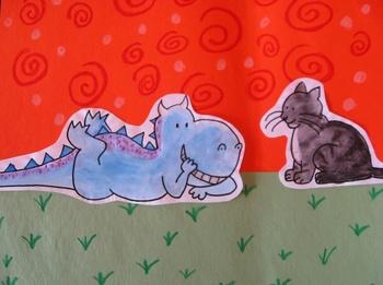 Dragon's Fat Cat: Children's Lit. Art Lesson!