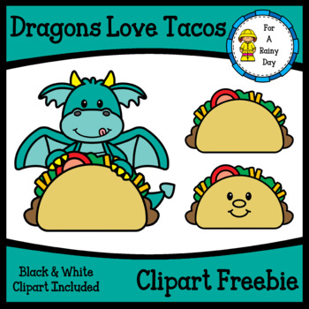 Dragons Love Tacos Clipart Freebie