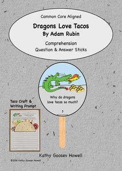 Dragons Love Tacos - Comprehension Q & A Sticks - Craft & Writing