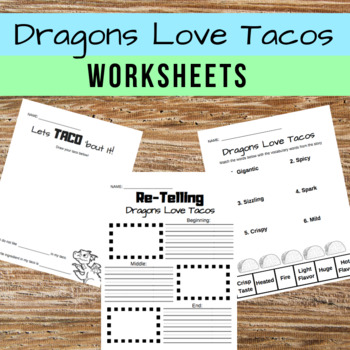 Dragons Love Tacos FREE Worksheets