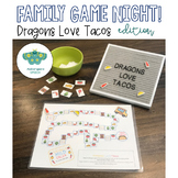 Dragons Love Tacos Game Board