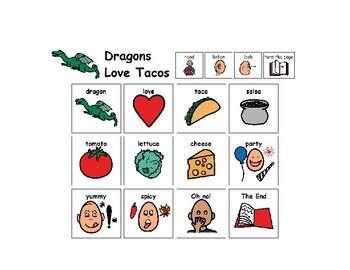 Dragons Love Tacos and Taco Craft Language Board