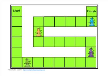 Dragons Sight Word Fluency Phrases Race