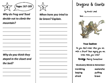 Dragons and Giants Trifold - Imagine It 2nd Grade Unit 5 Week 1