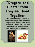 ReadyGen Dragons and Giants Vocabulary 1st grade Unit 1 Module A