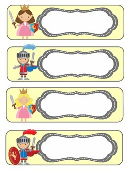 Dragons and Knights **EDITABLE** Classroom Labels