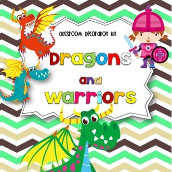 Dragons And Warriors Classroom Decoration Kit Editable By Rockin