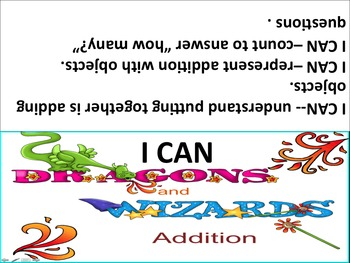 Dragons and Wizards Addition Math Common Core