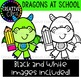 Dragons at School Clipart {Creative Clips Clipart}