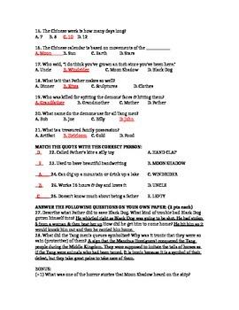 Dragonwings CH 1-4 Test (w/ Ans Key)