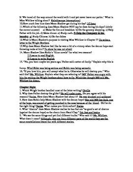 Dragonwings CH 5-8 Study Questions (w/ Ans Key)