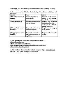 Dragonwings CH 5-8 Test (w/ Ans Key)