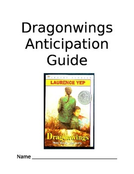 Dragonwings Common Core Comprehension Questions (Anticipation Guide)