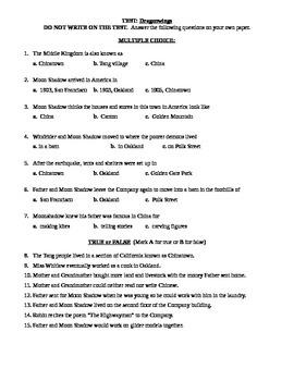 Dragonwings Novel-test