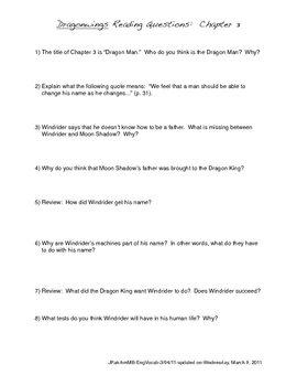 dragonwings questions teaching resources teachers pay teachers rh teacherspayteachers com  dragonwings study guide glencoe answers
