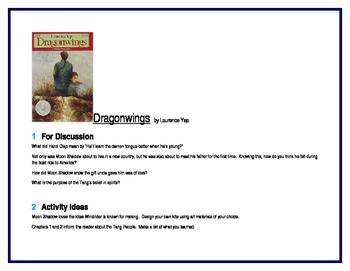 Dragonwings for Literature Circles