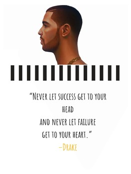 Drake Aubrey Graham Hip Hop Rap Rapper Growth Mindset Poster
