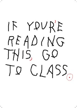 Drake INSPIRED Go to Class Teacher Corrections Poster