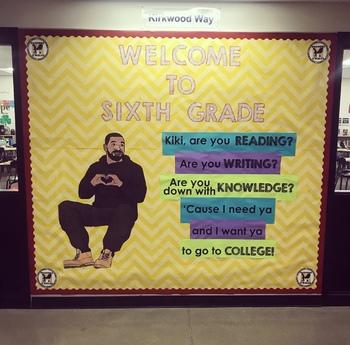 """Drake """"In My Feelings"""" Bulletin Board - Any Grade!"""