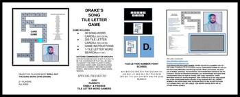 Drake Song List TILE LETTER CARD GAME