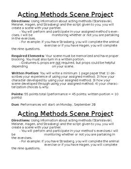 Drama Acting Methods Scene Performance Project