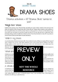 Role Play Drama Activities + Pantomime Cards (DRAMA SHOES)